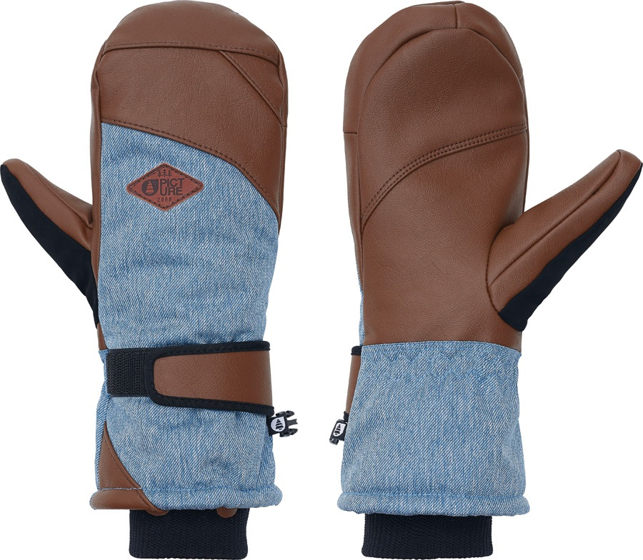 Picture Anna Women's Snowboard/Ski Mitts, XL Denim