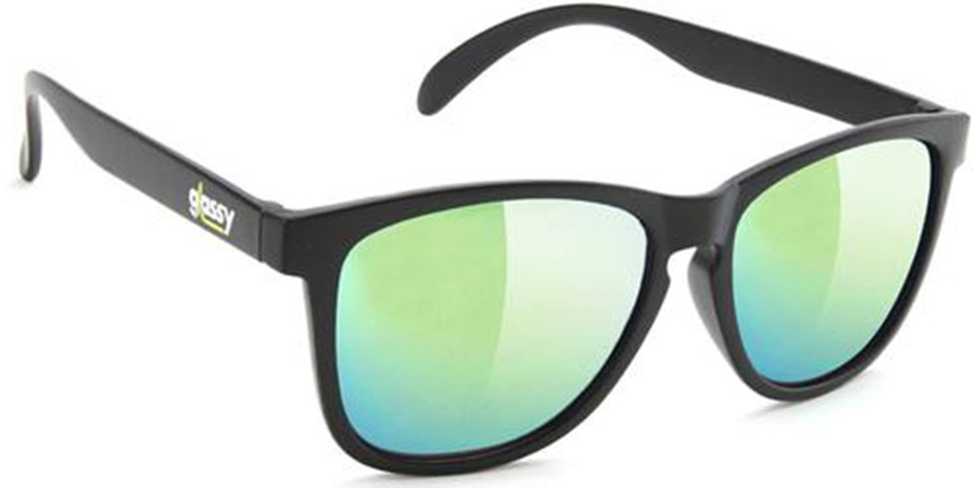 f59c391f3b7 Glassy Sunhaters Deric Green Mirror Lens Sunglasses