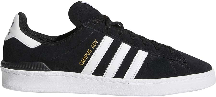 Adidas Campus ADV Men's Trainers Skate Shoes, UK 12 Black/White