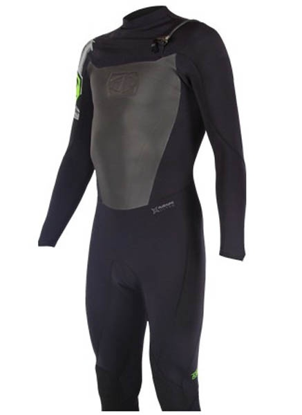 JetPilot A-Tron 2/2mm Full Wetsuit, XL, Black Green