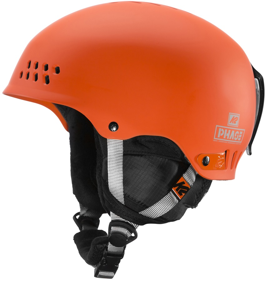 K2 Phase Pro Ski/Snowboard Helmet, M Orange