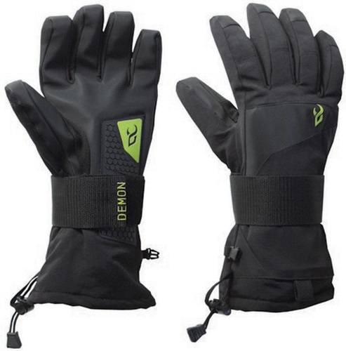 Demon Cinch Wrist Guard Snowboard/Ski Gloves M Black/Green