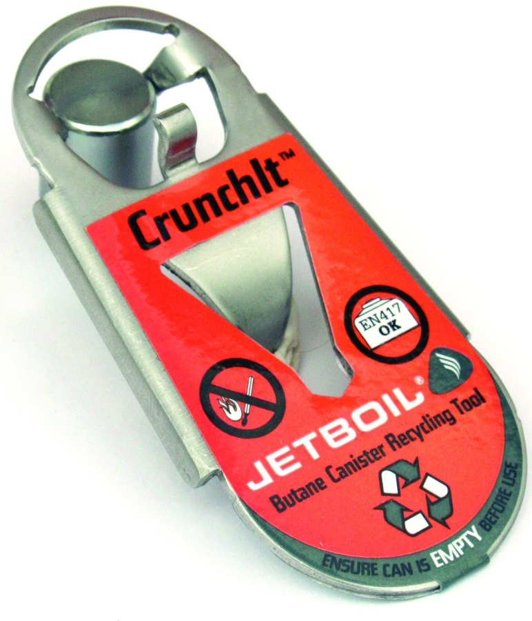 Jetboil Crunchit Fuel Canister Recycling Tool, One Size, Silver