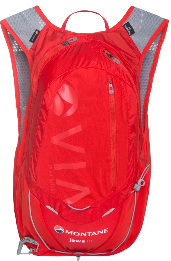 Montane VIA Jaws 10 Trail Running Vest Backpack, M/L Flag Red
