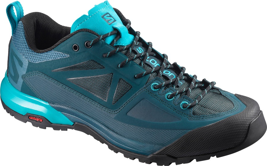 Salomon X Alp SPRY Approach/Walking Shoes, UK 4.5 Mallard Blue