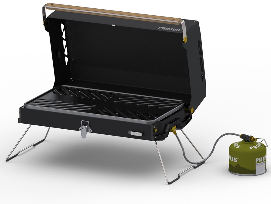 Primus Kuchoma Barbecue Gas Powered Camping Grill, OS Black