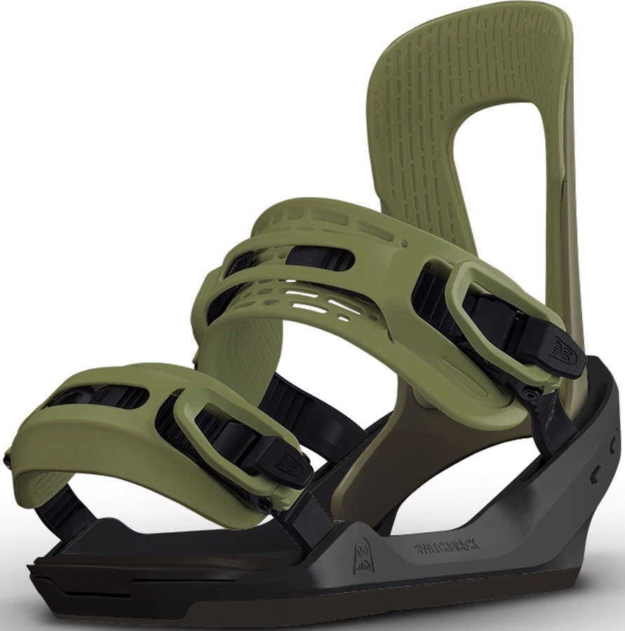 Switchback Pilot Snowboard Binding, S Green/Black 2017