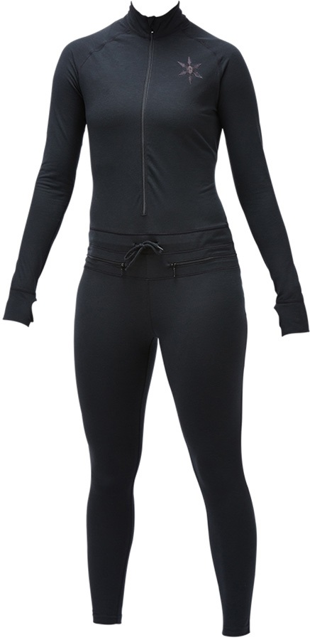 Airblaster Womens Womens Hoodless Ninja Suit Base Layer, M Black