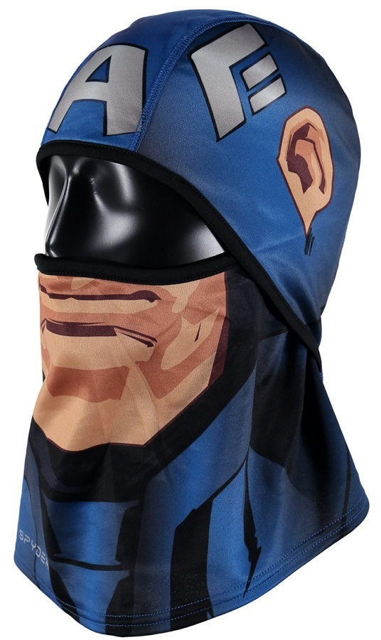 Spyder Marvel T-Hot Pivot Winter Ski Balaclava, French Blue/Captain