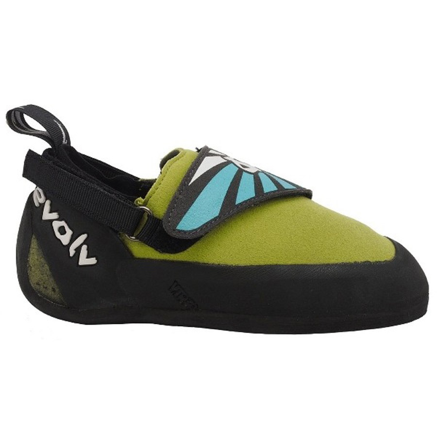 Evolv Venga Kids Rock Climbing Shoe UK 11 Kids Lime Green / Blue