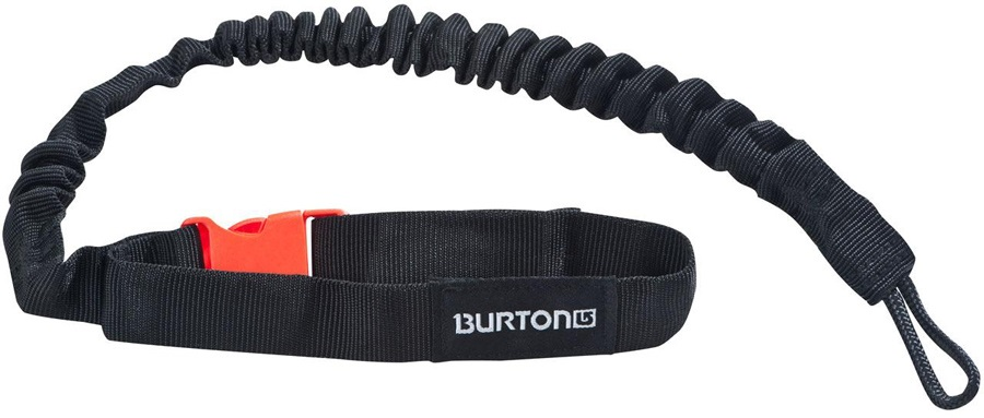 Burton Web Leash Snowboard Leash, Black/Red, 019033