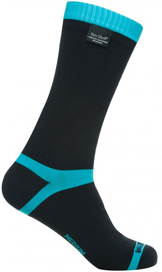 DexShell Coolvent Waterproof Socks, UK 12-14 Aqua Blue Stripe