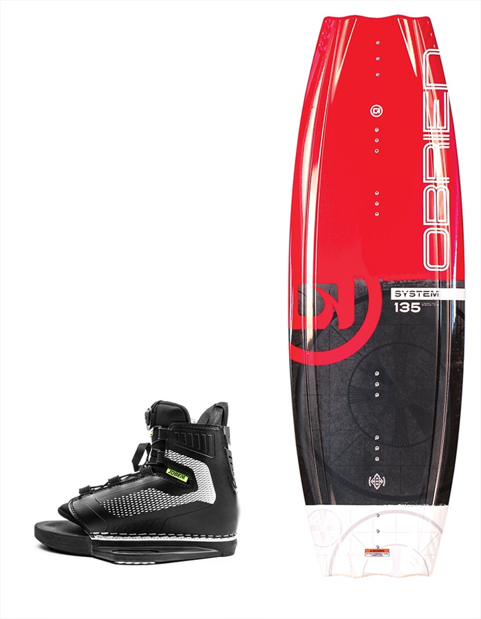 O'Brien System|Unit Wakeboard Package, 135|9.5-11.5 Red 2019