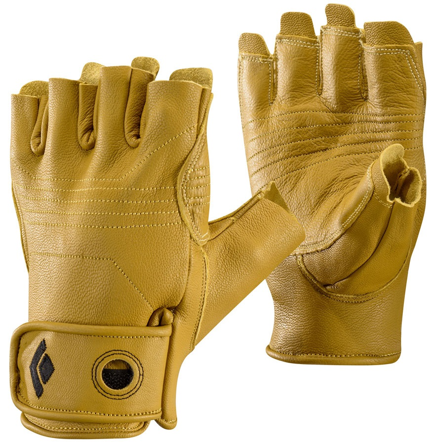 Black Diamond Stone Fingerless Climbing Glove, XL Natural Tan