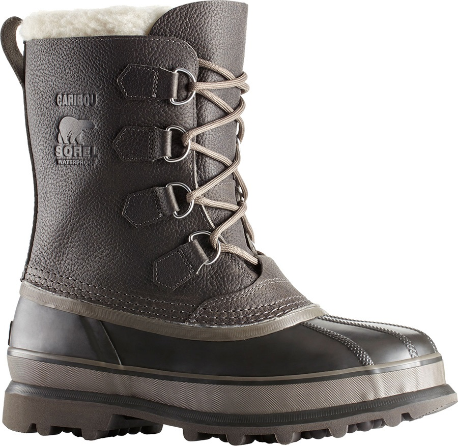 659af656d76c8 Sorel Caribou Wool Men's Snow Boots, UK 10 Quarry/Buffalo