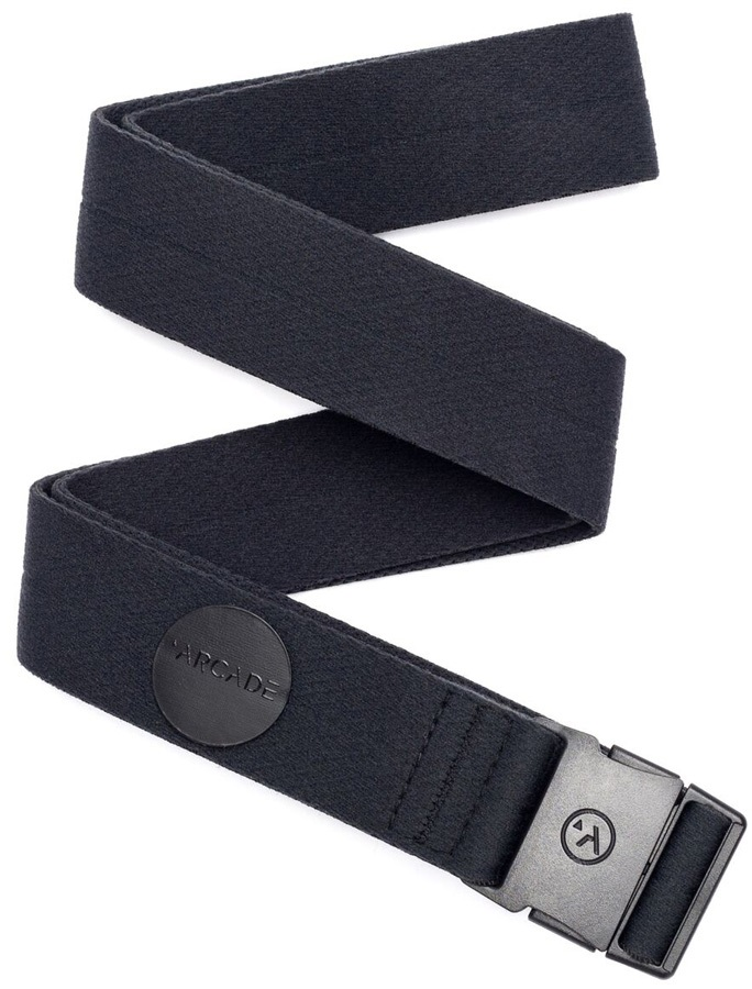 Arcade Belts, Adventure Midnighter Slim Stretch Belt, Black