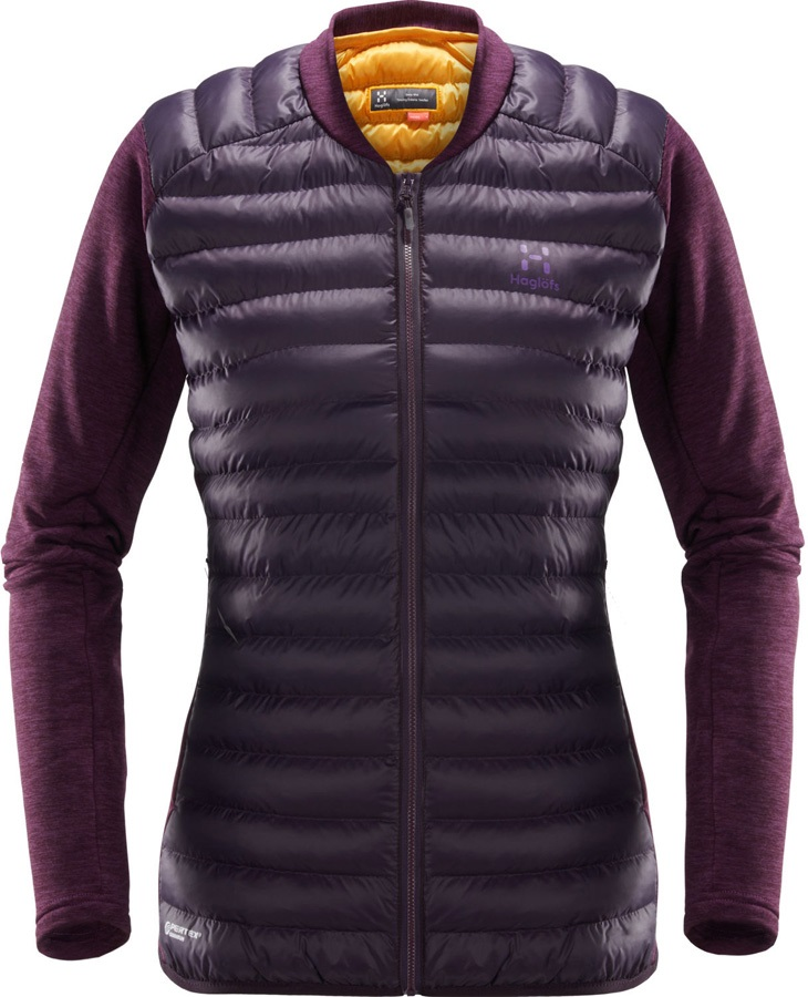 Haglofs Mimic Hybrid Women's Insulated Jacket, L Acai Berry/Lilac