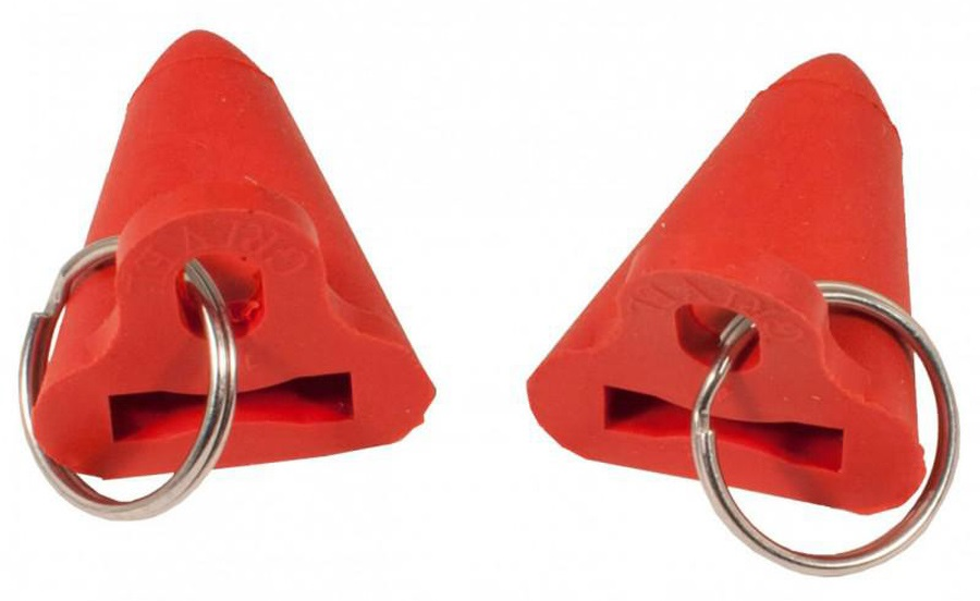 Grivel Rubber Point Protection Ice Axe Spike Protectors, One Size, Red