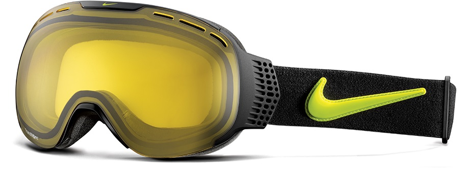 Nike SB Command Ski/Snowboard Goggles, Black Cyber, Transitions Yellow