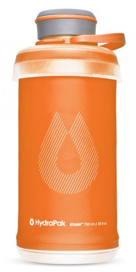 HydraPak Stash Bottle Collapsible Water Bottle, 750ml Mojave Orange