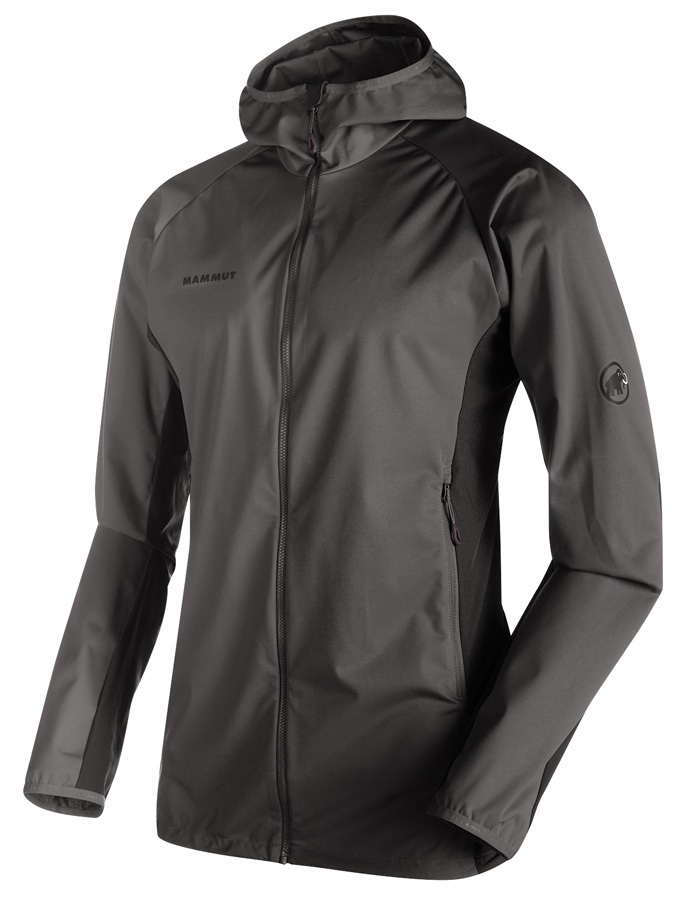 Mammut Kento Light SO Hooded Softshell Jacket M Titanium-Dark Titanium