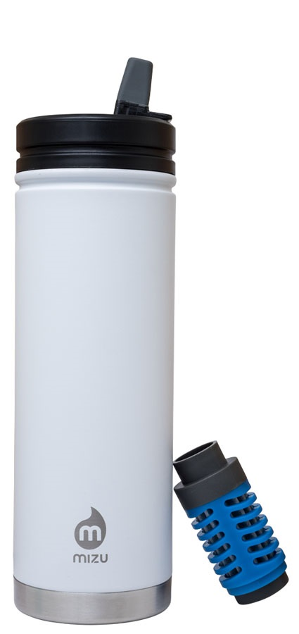 Mizu 360 V7 Everyday Filter Insulated Water Bottle, 650ml Enduro White