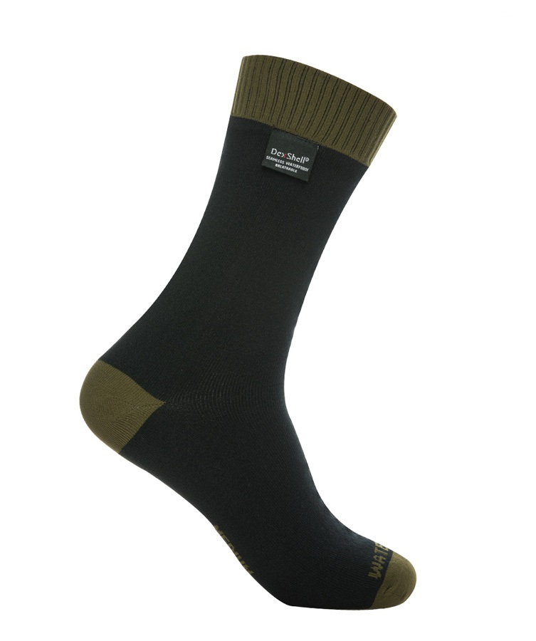 DexShell Thermlite Waterproof Socks, UK 6-8, Olive Green / Black