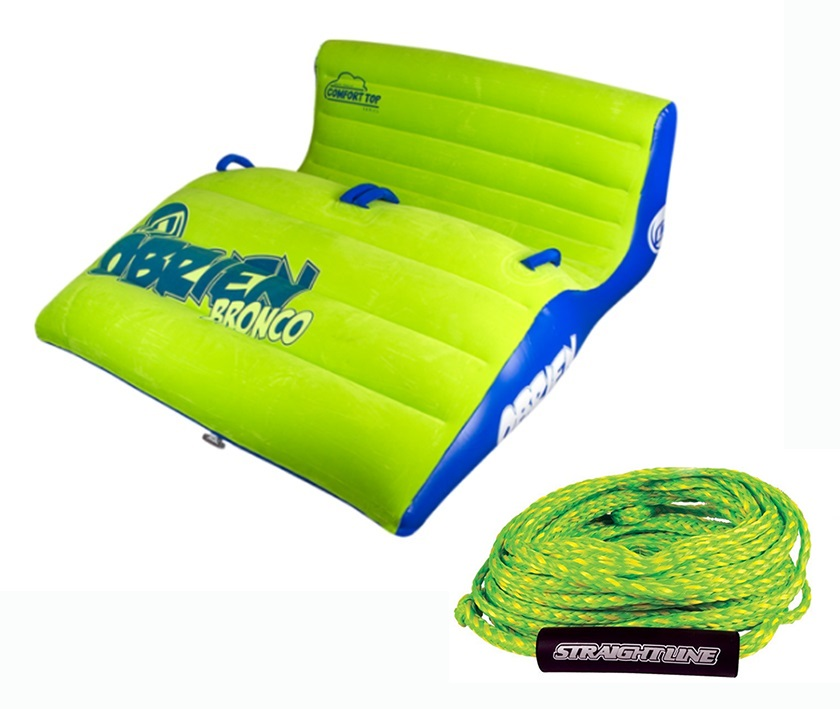O'Brien Bronco | Supreme Rope Plush Top Towable Tube Pack, 2 Rider