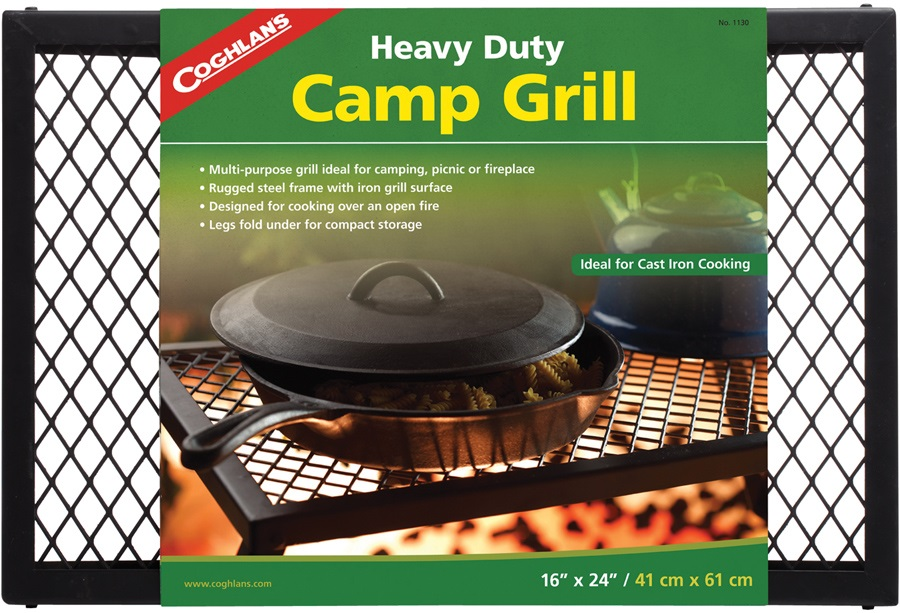 Coghlan's Heavy Duty Camp Grill Outdoor Camping Grill, 40x61cm Black