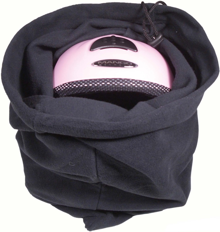 Manbi Fleece Ski Helmet Bag Black