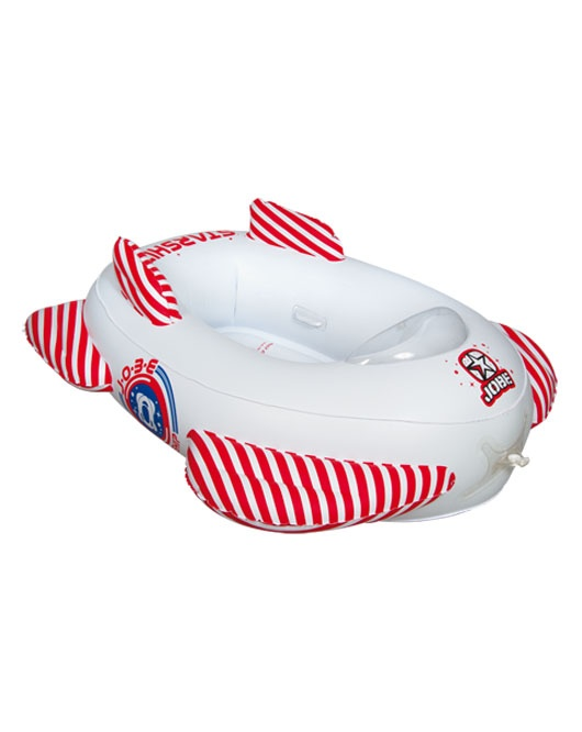 Jobe Starship Dolphi Kids Towable Inflatable, 2 Rider, White Red