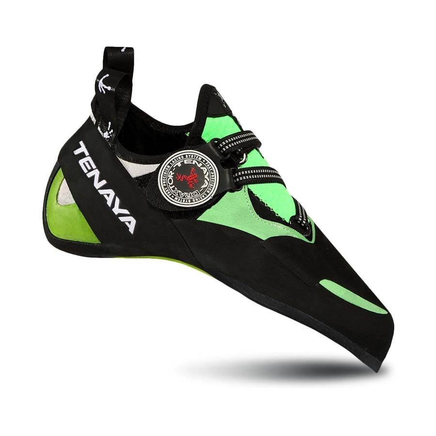 Tenaya Mundaka Rock Climbing Shoe: UK 8.5 | EU 42.6, Black/Green