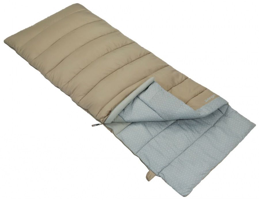 Vango Harmony Single Camping Sleeping Bag, 190cm Nutmeg