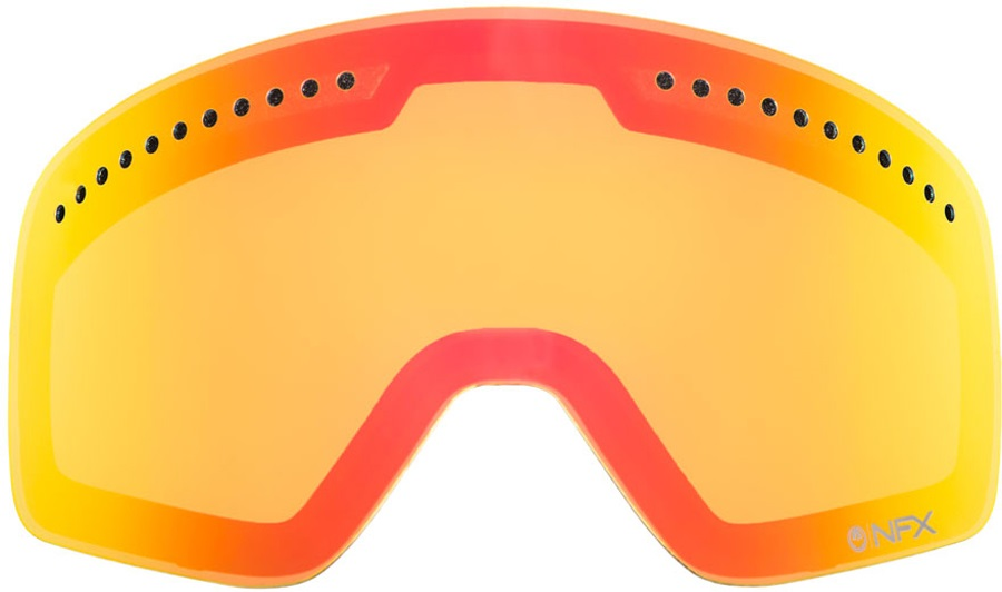 Dragon NFXS Snowboard/Ski Goggles Spare Lens, Yellow Red Ionized