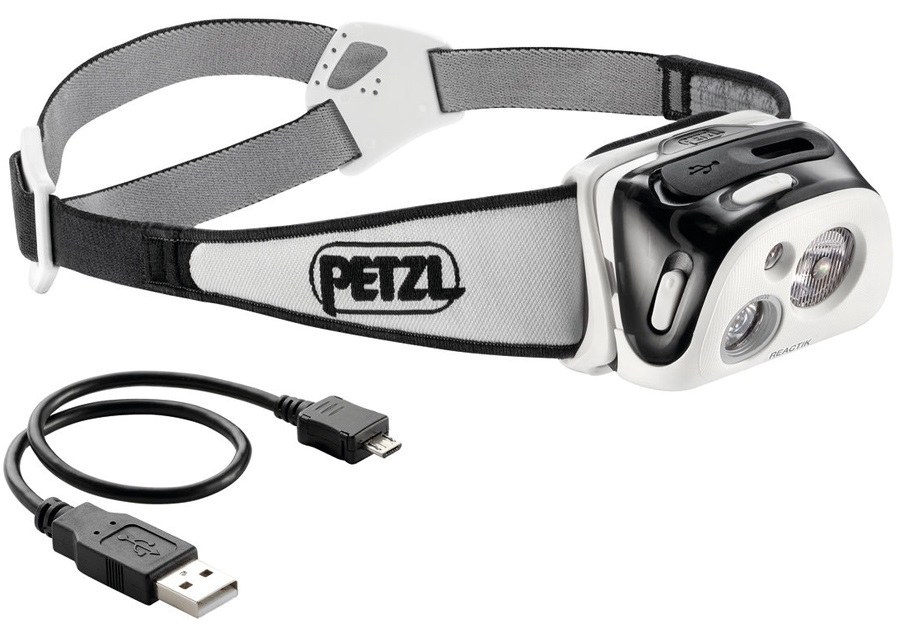 Petzl Reactik Compact Rechargeable Headtorch 220 Lumens Black