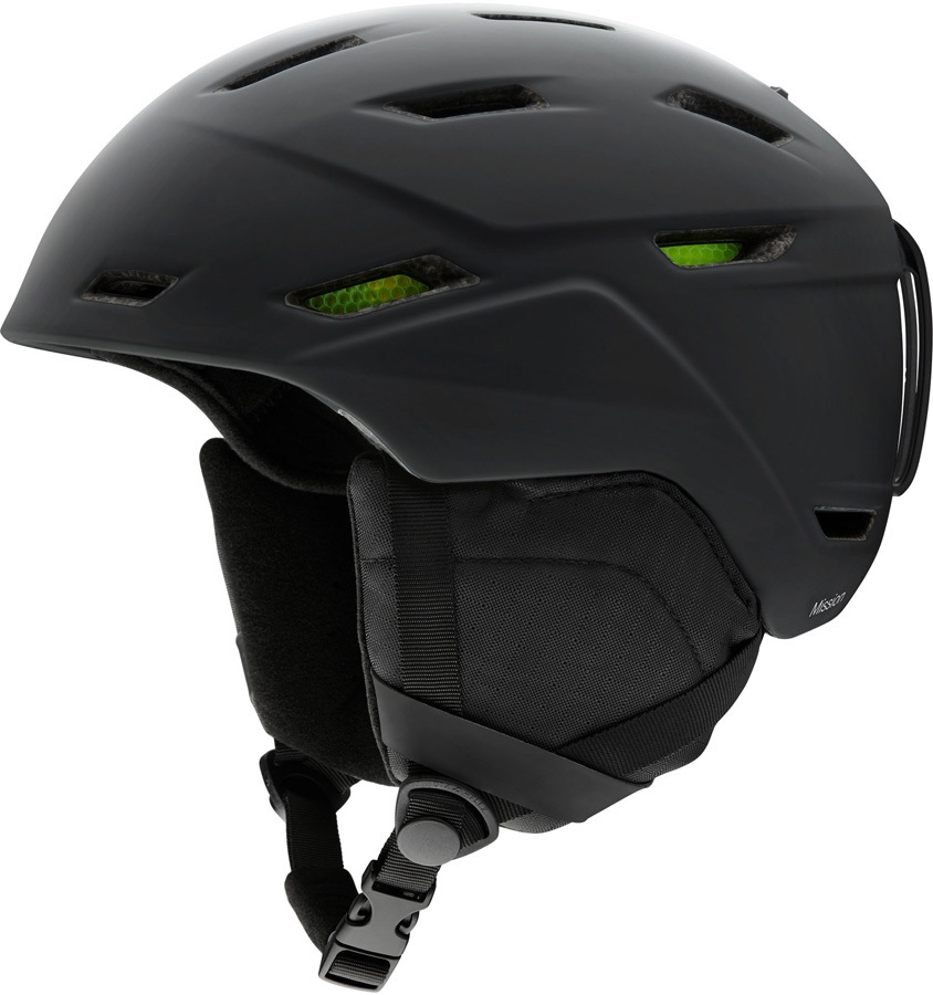 Smith Mission Snowboard/Ski Helmet, XL Matte Black