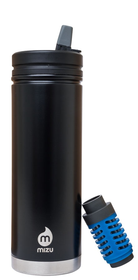 Mizu 360 V7 Everyday Filter Insulated Water Bottle, 650ml Enduro Black