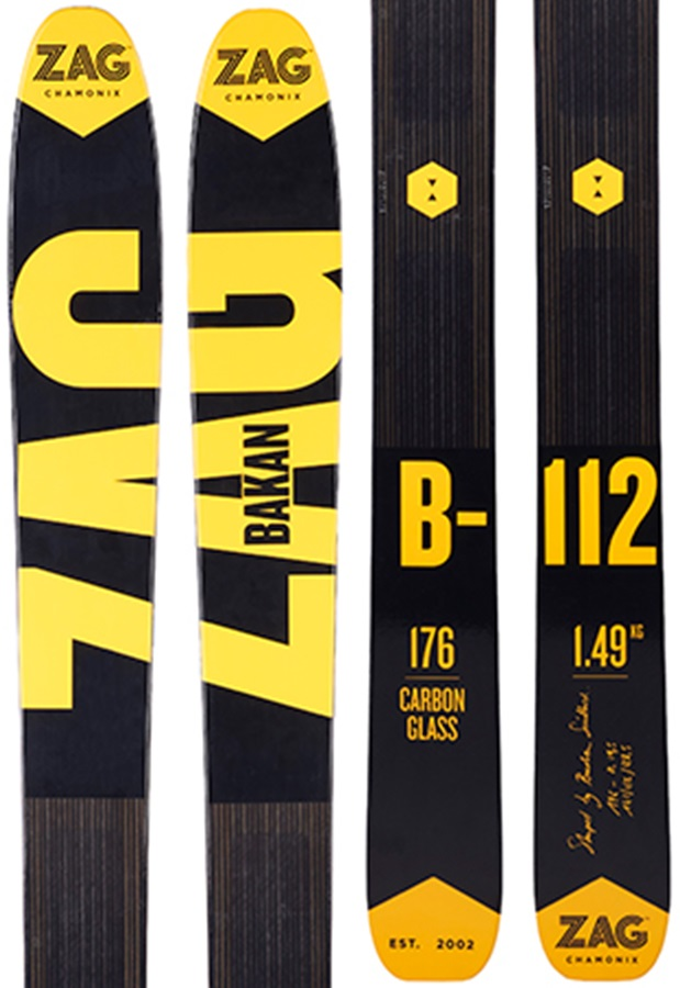 ZAG Bakan Skis & Skins, 184cm Yellow/Black 2018