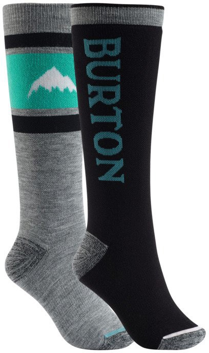 Burton Weekend 2-Pack Women's Snowboard/Ski Socks S/M True Black