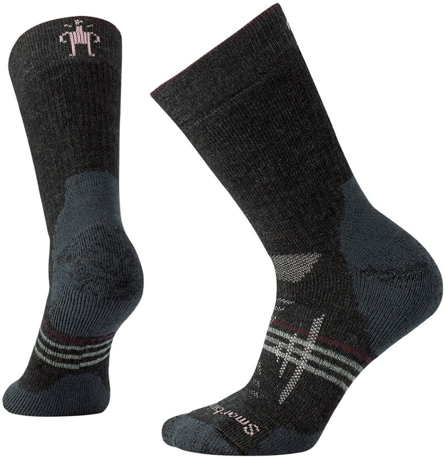 Smartwool PhD Outdoor Heavy Crew Women's Hiking Socks, 2-4.5 Charcoal