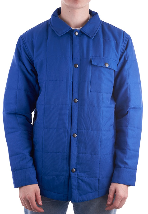 Airblaster Quilted Shirt Jacket, L Classic Blue