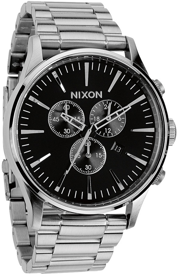 Nixon Sentry Chrono Men's Wrist Watch, One Size, Black