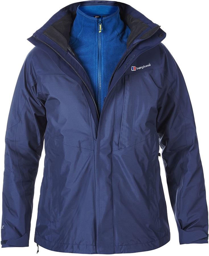 Berghaus Island Peak 3in1 Gore-Tex Jacket & Fleece UK14 Navy