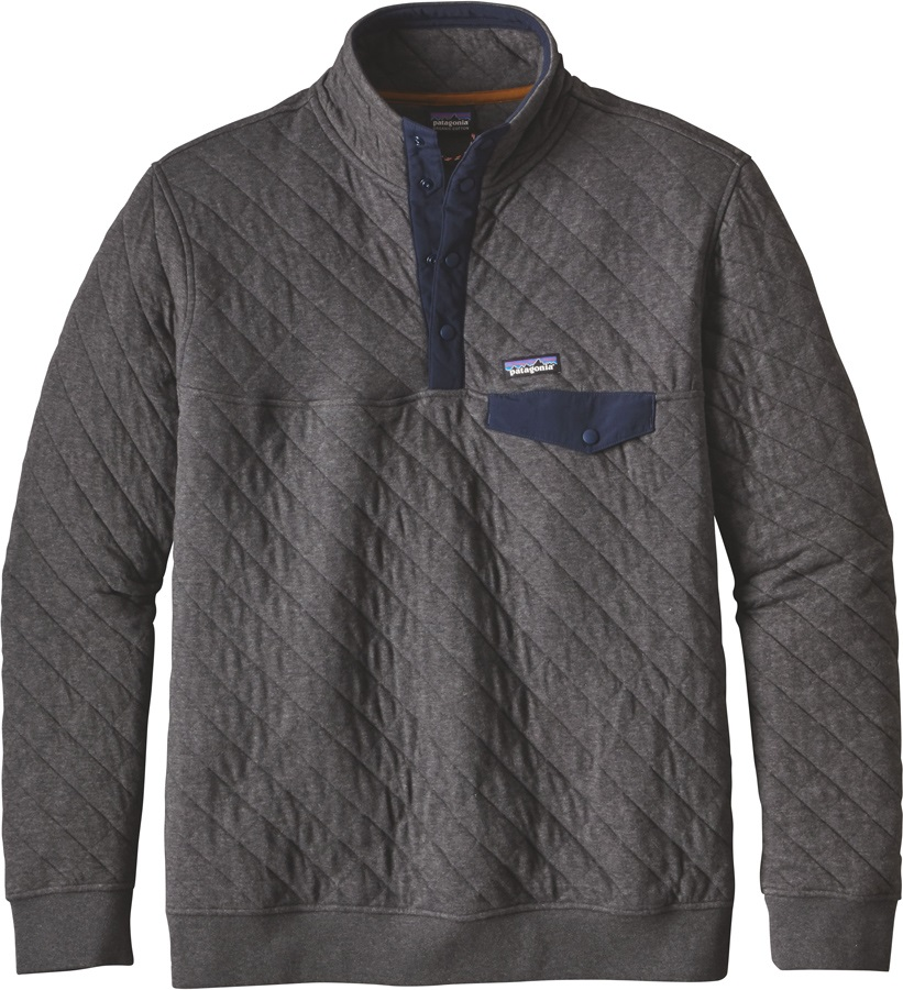 Patagonia Cotton Quilt Snap-T P/O Men's Fleece Pullover, L Forge Grey