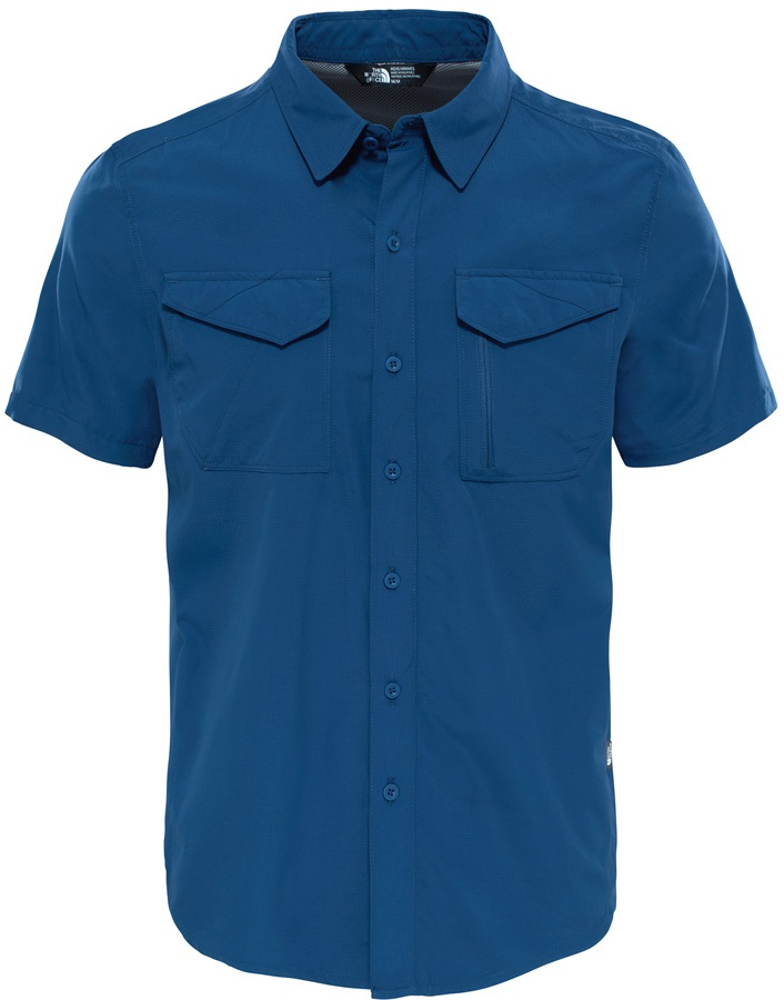 The North Face Sequoia Short Sleeved Shirt, L Shady Blue