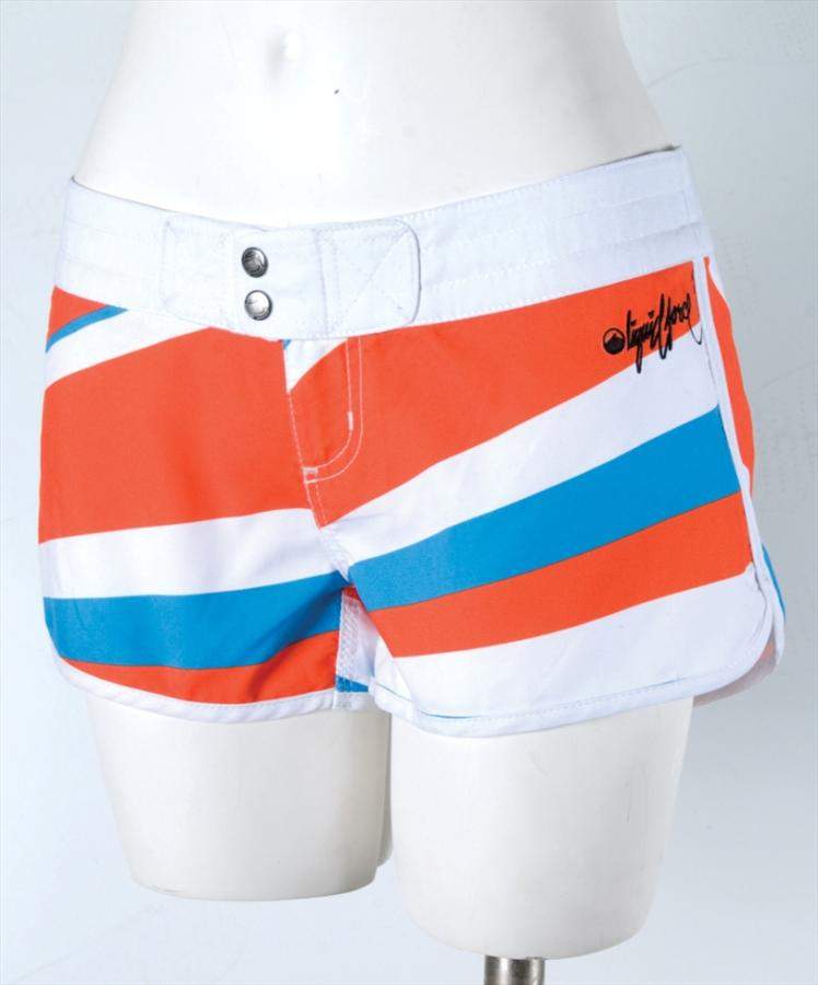 Liquid Force Burst Board Shorts, UK 8 US 4 Eur 36 Orange