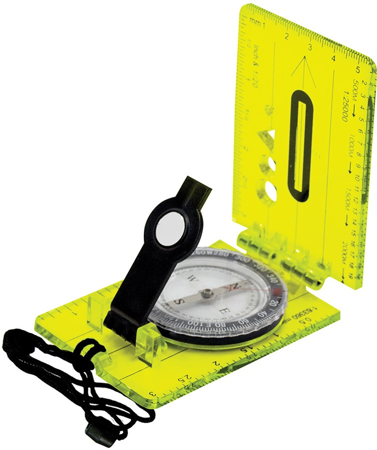 Ultimate Survival Technologies Lensatic Hi Vis Map Compass, Green