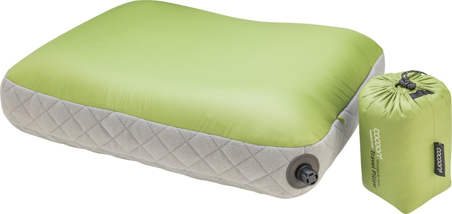 Cocoon Air Core Pillow Ultralight Inflatable Carry-On Pillow, M Wasabi