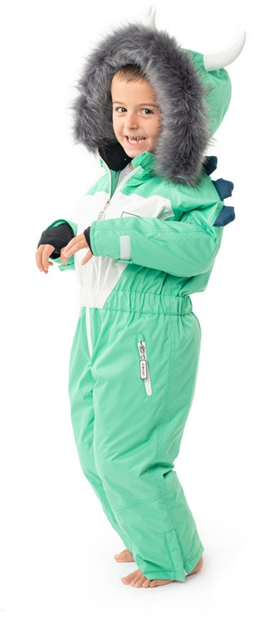 One Piece Winter Snowboard Ski Onesie Retro