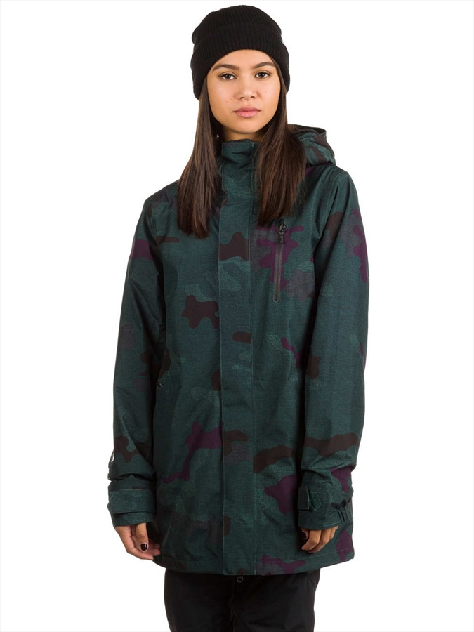 volcom w gore tex jacket women 39 s ski snowboard jacket s dark camo. Black Bedroom Furniture Sets. Home Design Ideas